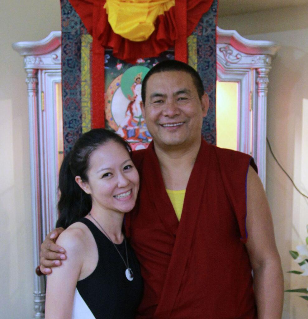 Vivian Tong and Lama Tendar